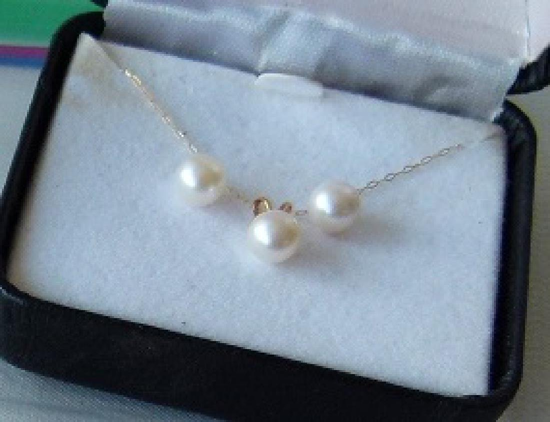 LOT (2) MODERN CULTURED 6MM PEARLS INCL. NECKLACE - 3