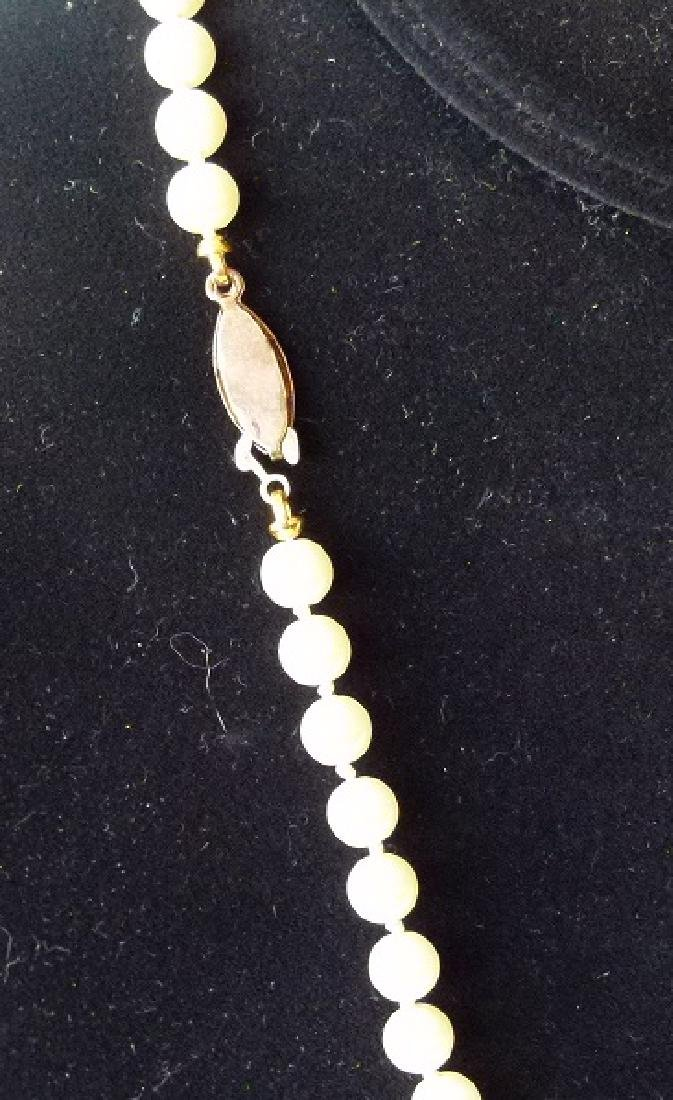LOT (2) MODERN CULTURED 6MM PEARLS INCL. NECKLACE - 5