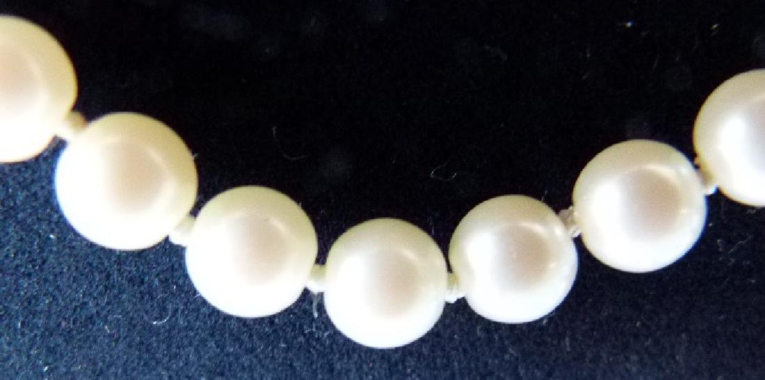 LOT (2) MODERN CULTURED 6MM PEARLS INCL. NECKLACE - 6