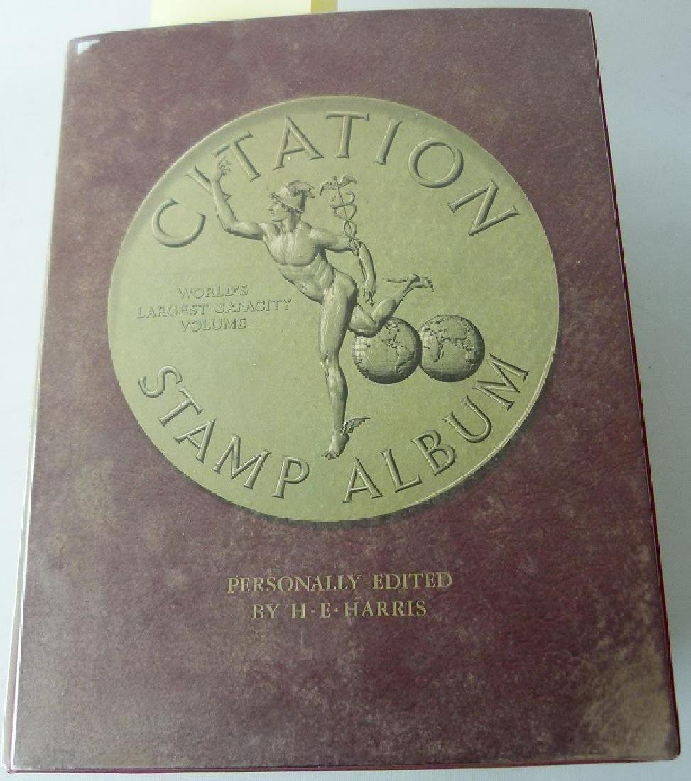 LARGE CITATION STAMP ALBUM, A THRU K, UNITED STATES
