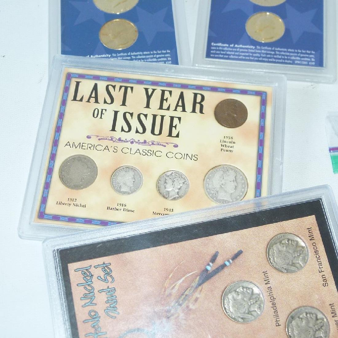 LOT ASSORTED COMMEMORATIVE COINS/ROLLED WHEAT - 2