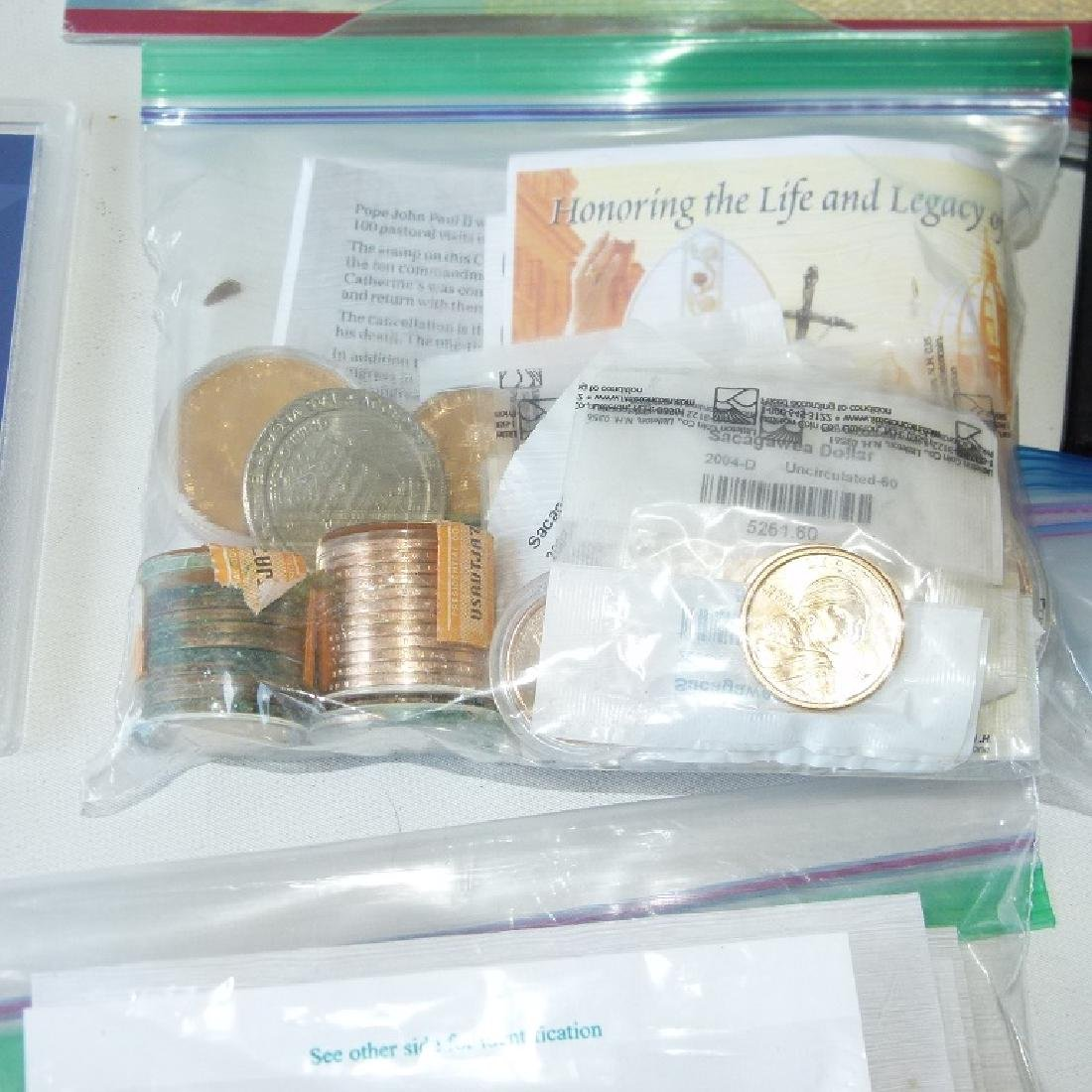 LOT ASSORTED COMMEMORATIVE COINS/ROLLED WHEAT - 3
