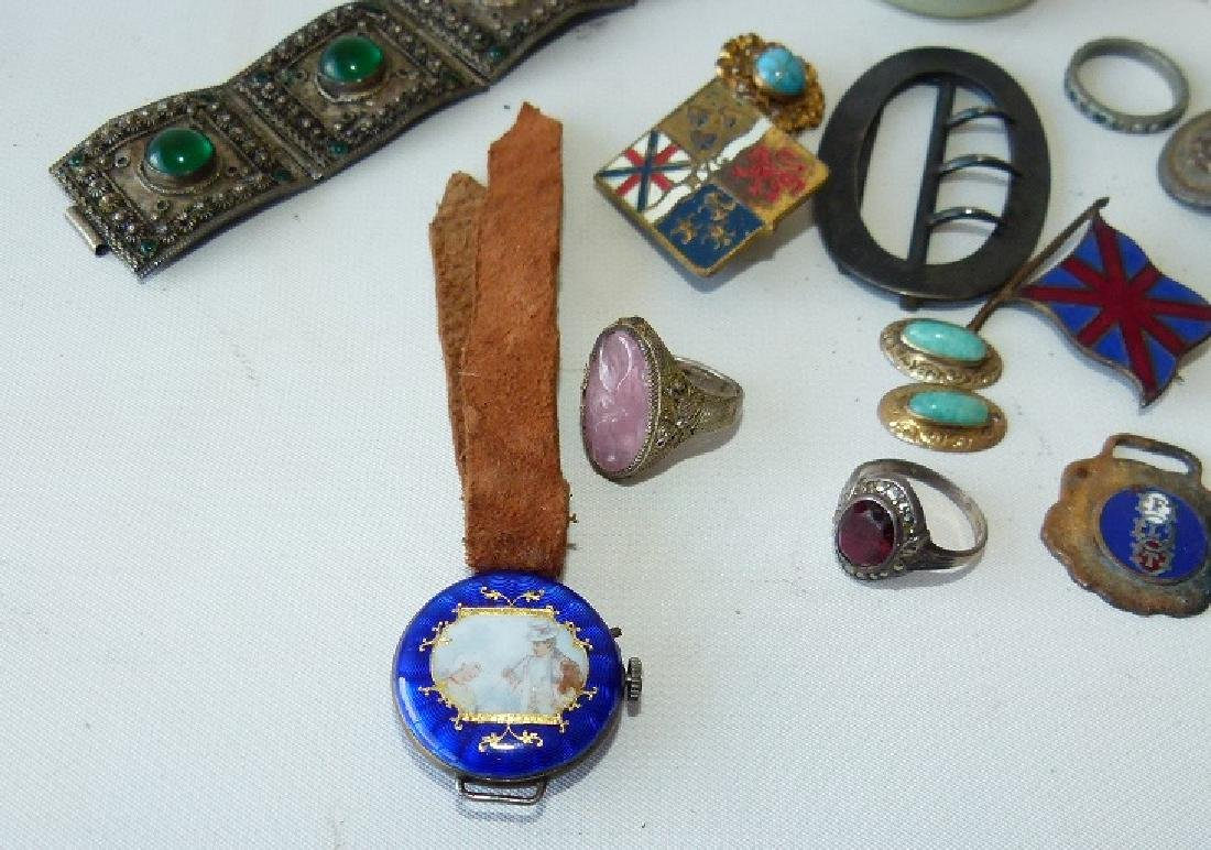 LOT ASSORTED VICTORIAN RINGS/FINDINGS 19/20TH C. - 10