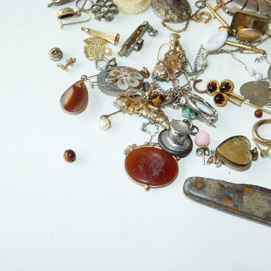 LOT ASSORTED VICTORIAN RINGS/FINDINGS 19/20TH C. - 3