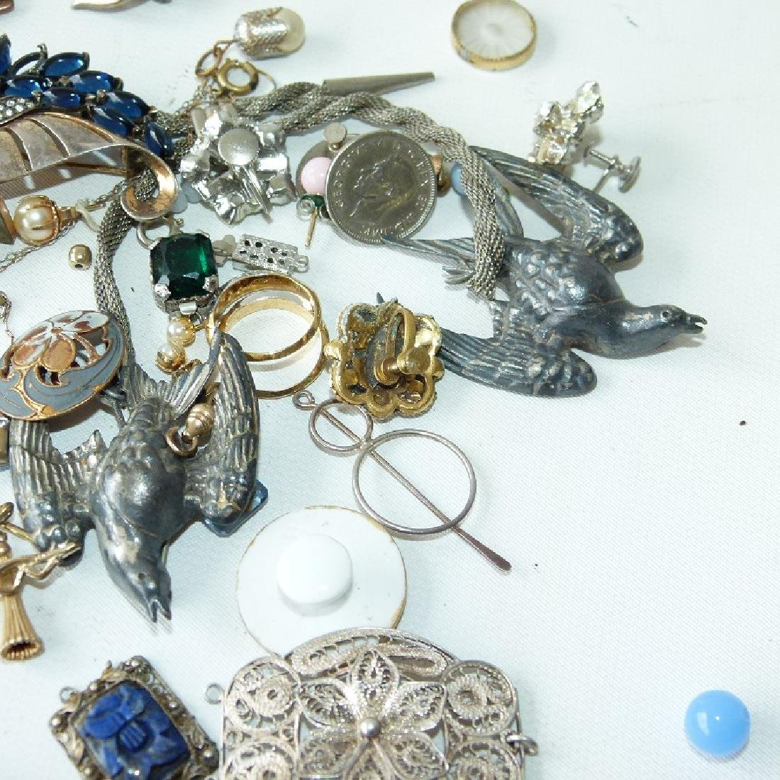 LOT ASSORTED VICTORIAN RINGS/FINDINGS 19/20TH C. - 4
