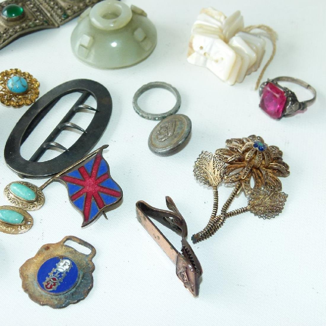 LOT ASSORTED VICTORIAN RINGS/FINDINGS 19/20TH C. - 8