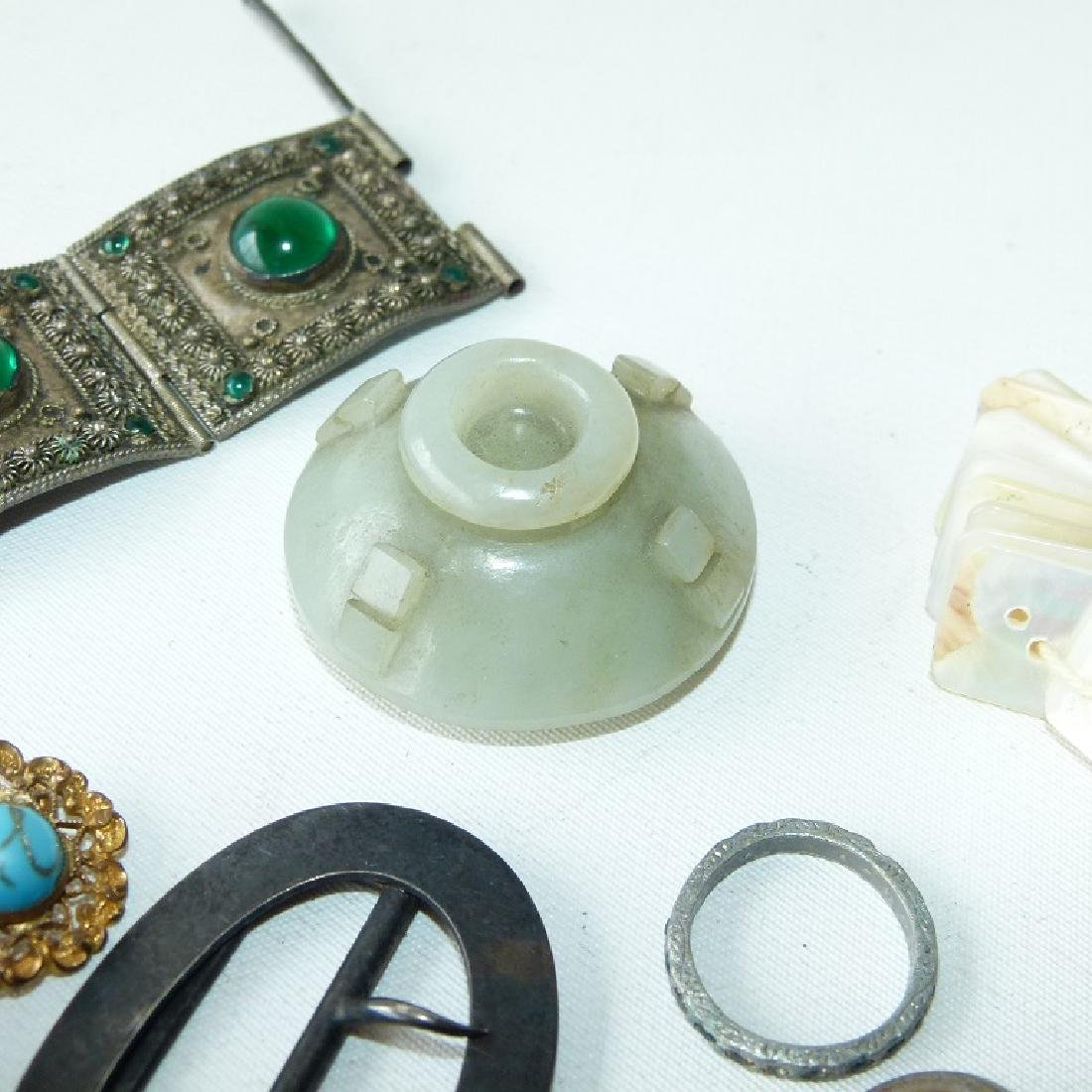 LOT ASSORTED VICTORIAN RINGS/FINDINGS 19/20TH C. - 9