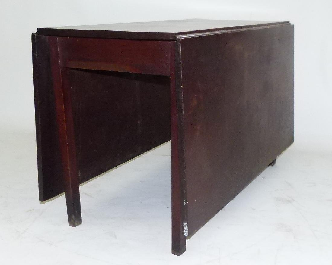 PENN. WALNUT LONG DROP TABLE W/ GATE LEG, C. 1830