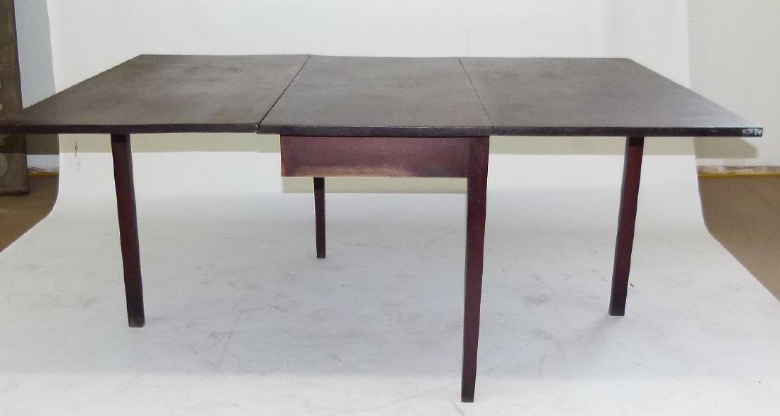 PENN. WALNUT LONG DROP TABLE W/ GATE LEG, C. 1830 - 4