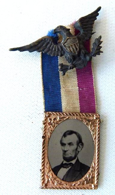 RARE ABRAHAM LINCOLN MEMORIAL FERROTYPE, C. 1860