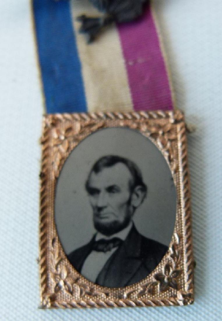 RARE ABRAHAM LINCOLN MEMORIAL FERROTYPE, C. 1860 - 3
