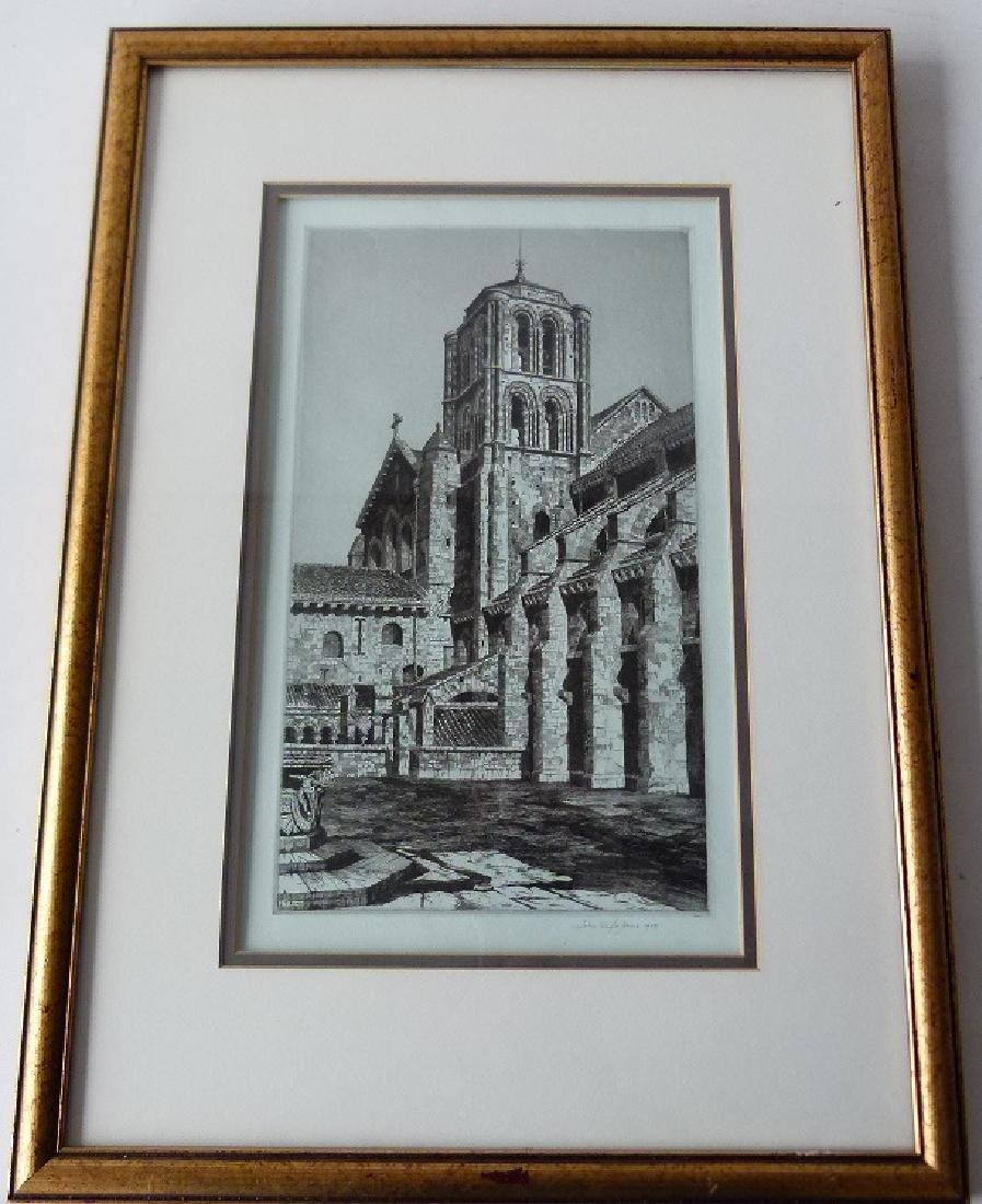 SOFT GROUND ETCHING, CATHEDRAL, SIGNED