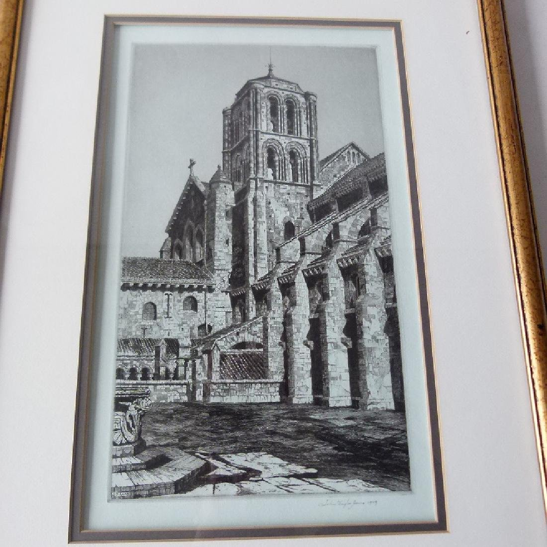 SOFT GROUND ETCHING, CATHEDRAL, SIGNED - 2