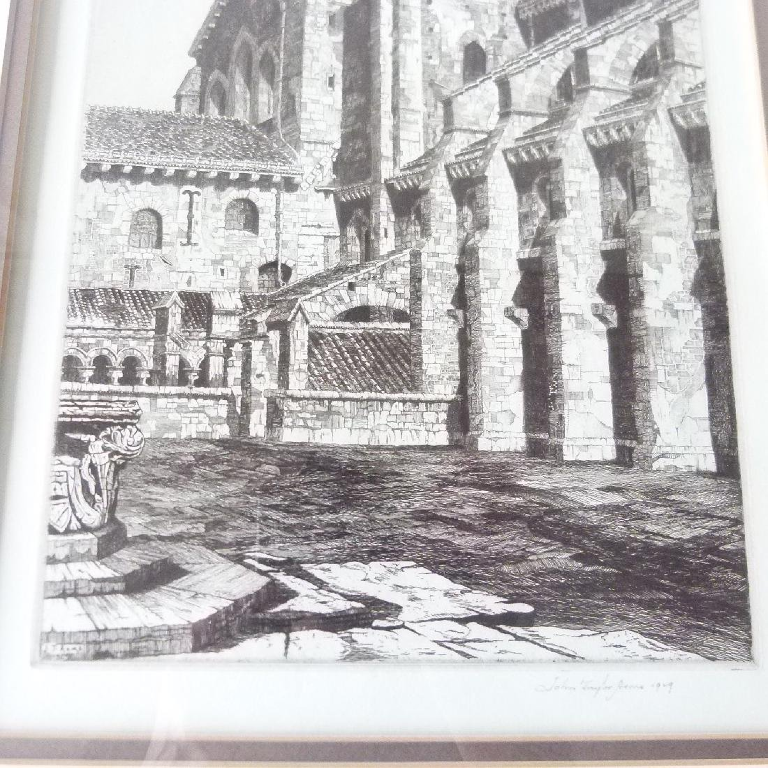 SOFT GROUND ETCHING, CATHEDRAL, SIGNED - 3