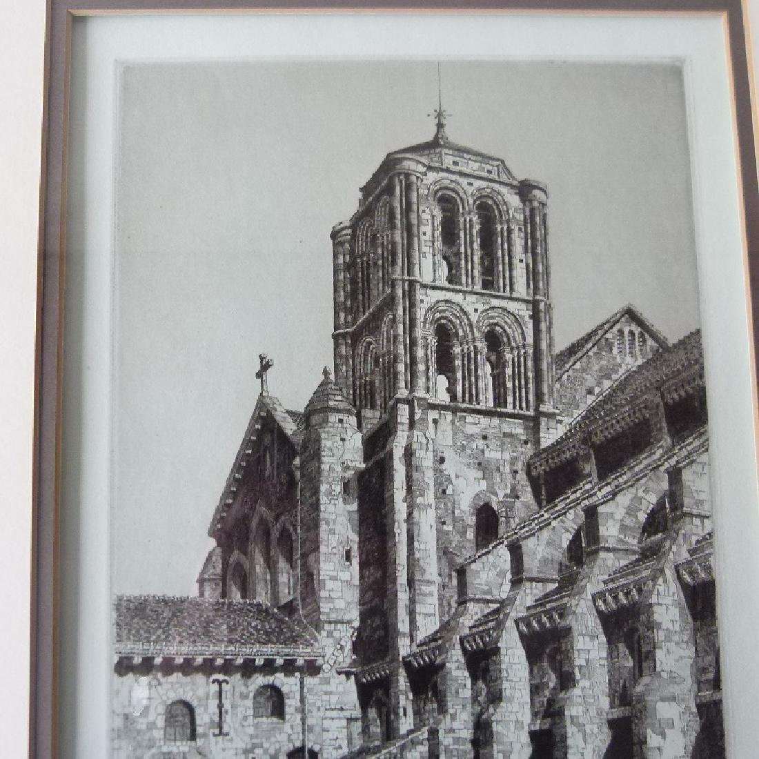 SOFT GROUND ETCHING, CATHEDRAL, SIGNED - 4