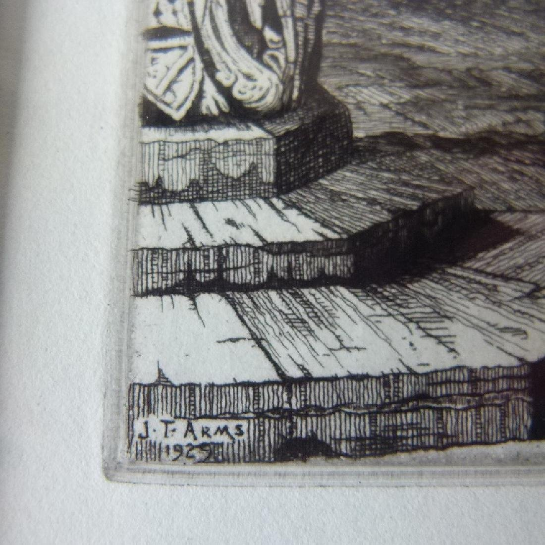 SOFT GROUND ETCHING, CATHEDRAL, SIGNED - 6