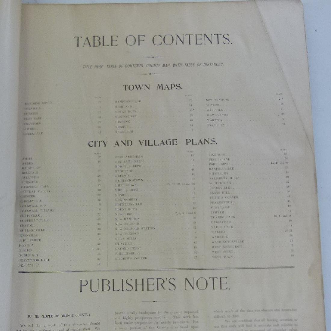 (2)  ATLAS OF ORANGE COUNTY NEW YORK, A.H. MUELLER - 10