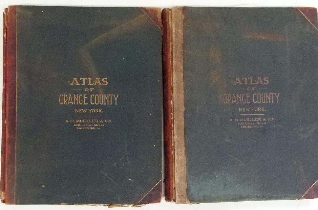 (2)  ATLAS OF ORANGE COUNTY NEW YORK, A.H. MUELLER