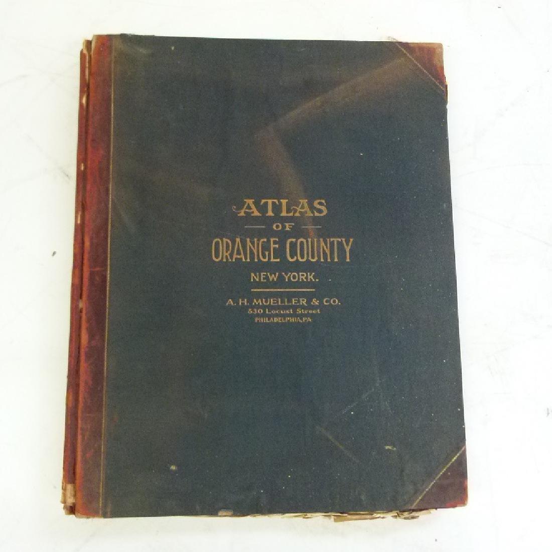 (2)  ATLAS OF ORANGE COUNTY NEW YORK, A.H. MUELLER - 2