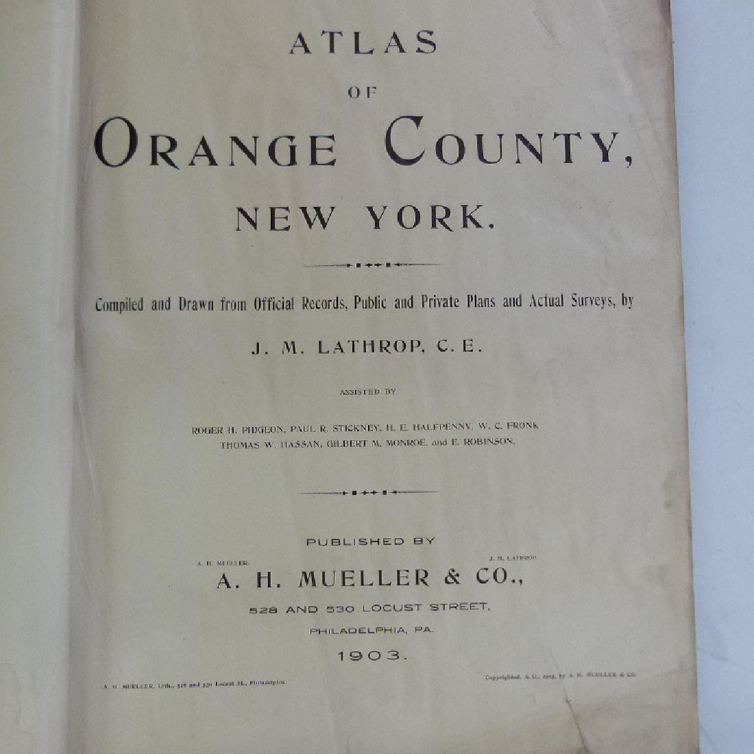 (2)  ATLAS OF ORANGE COUNTY NEW YORK, A.H. MUELLER - 9