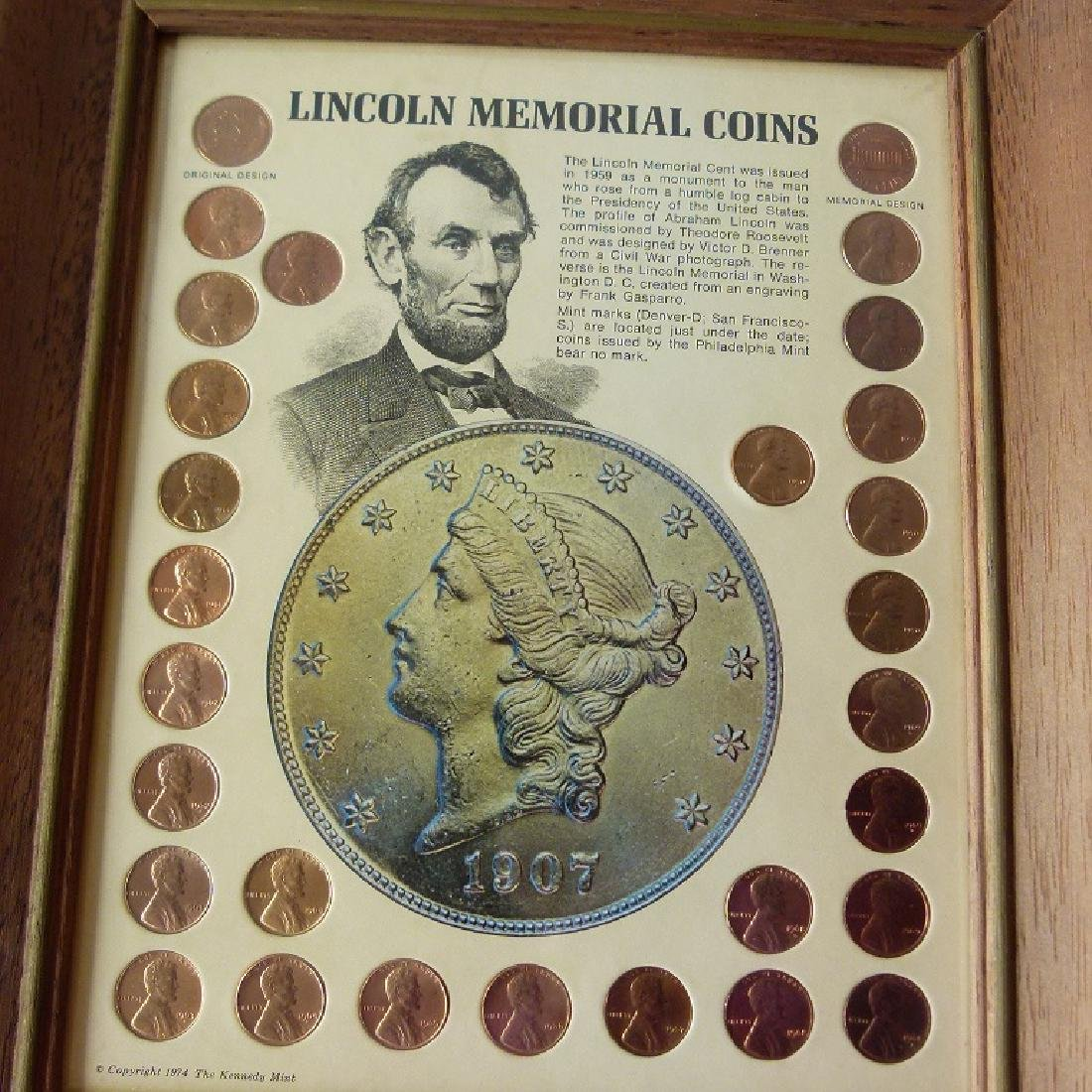 4 FRAMED SETS US CURRENCY, INCL. SILVER DOLLARS - 2