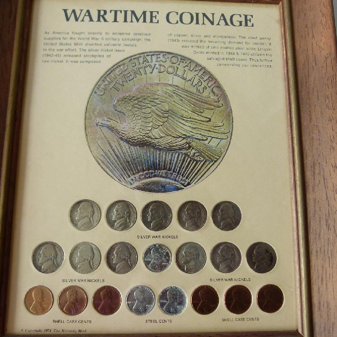 4 FRAMED SETS US CURRENCY, INCL. SILVER DOLLARS - 4
