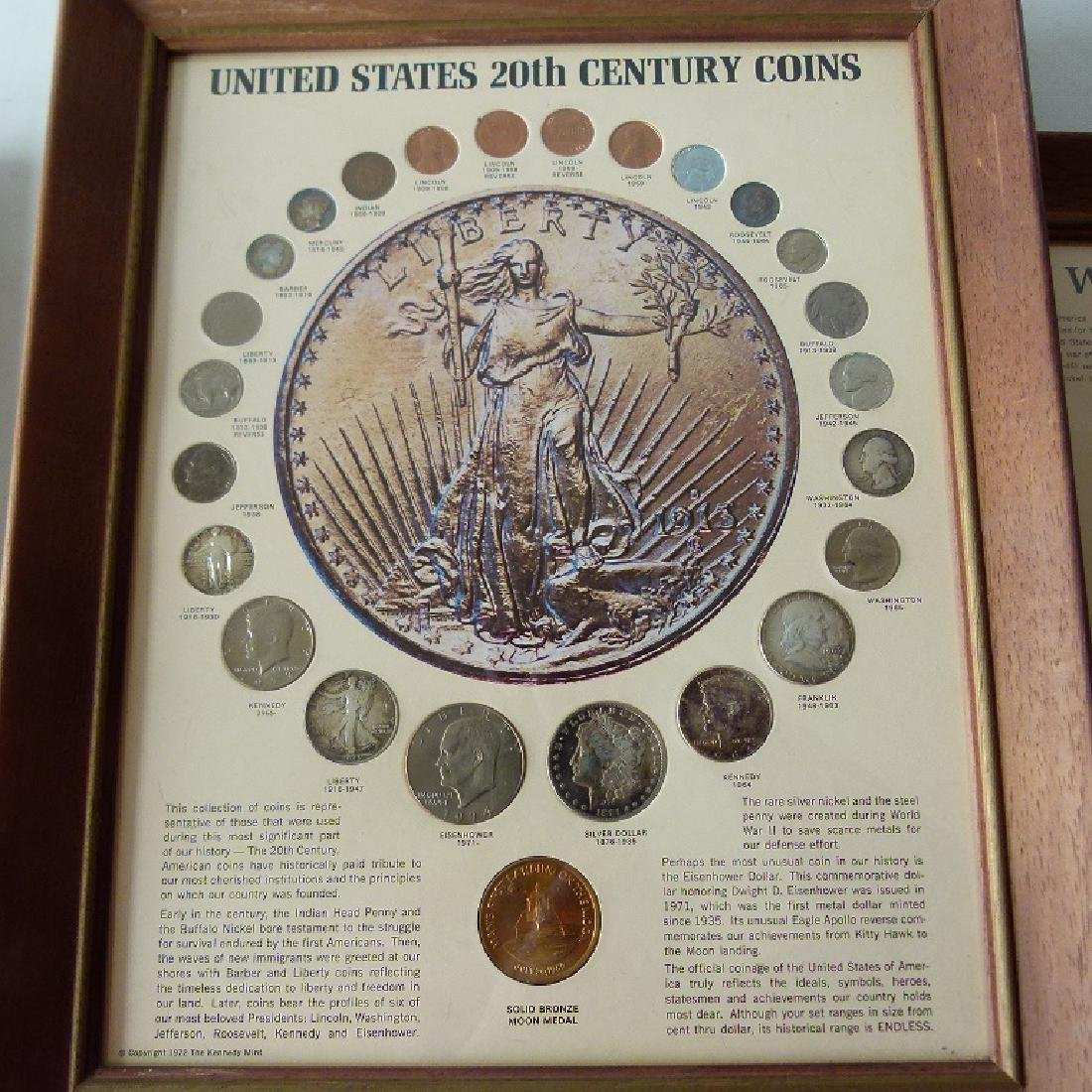 4 FRAMED SETS US CURRENCY, INCL. SILVER DOLLARS - 5