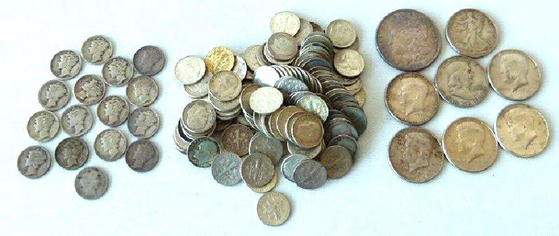 LOT SILVER COIN INCL. MORGAN DOLLAR, KENNEDY