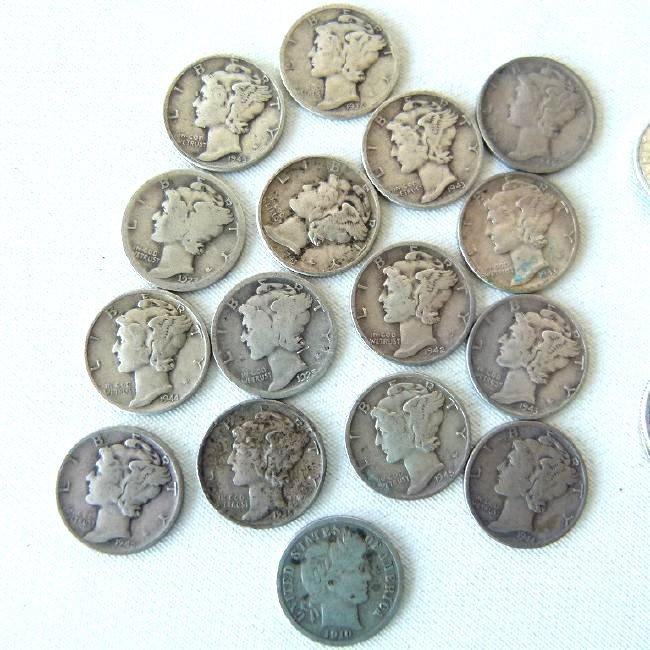 LOT SILVER COIN INCL. MORGAN DOLLAR, KENNEDY - 3