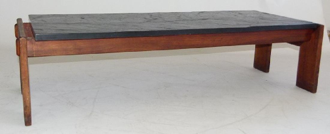 MID CENTURY MODERN SLATE/MAHOGANY/WALNUT