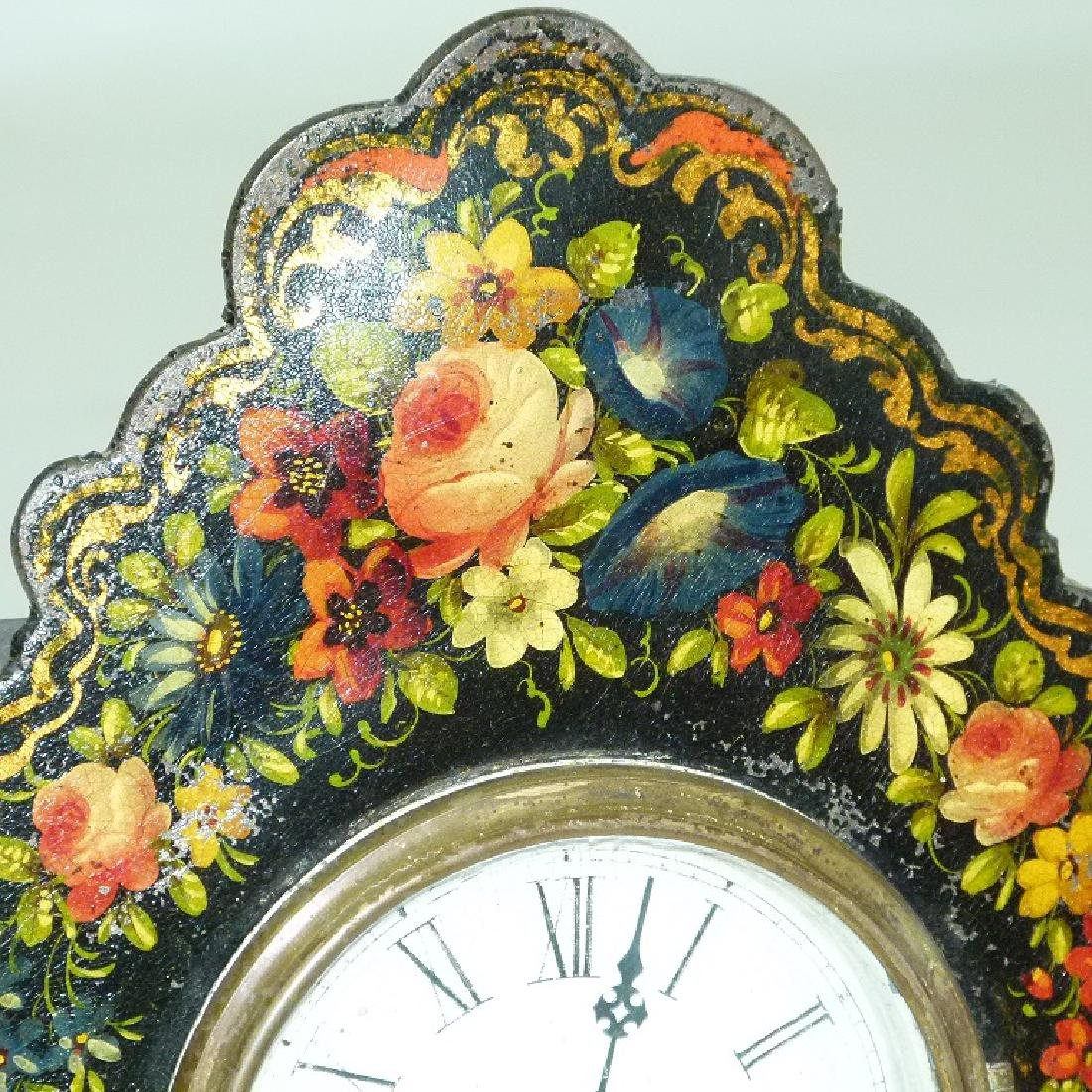 VICTORIAN PAINTED IRON SHELF/MANTLE CLOCK - 6