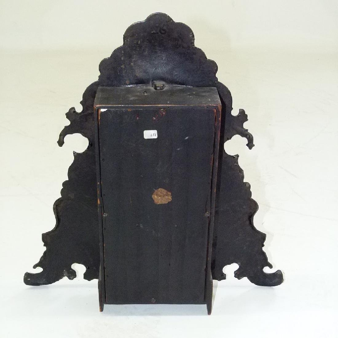 VICTORIAN PAINTED IRON SHELF/MANTLE CLOCK - 7