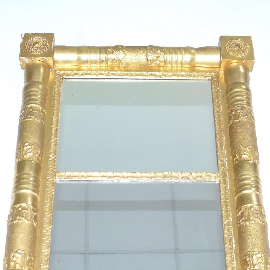 FINE CLASSICAL EMPIRE GILT 2 PART WALL MIRROR - 2