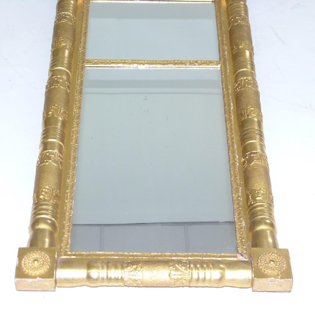 FINE CLASSICAL EMPIRE GILT 2 PART WALL MIRROR - 3