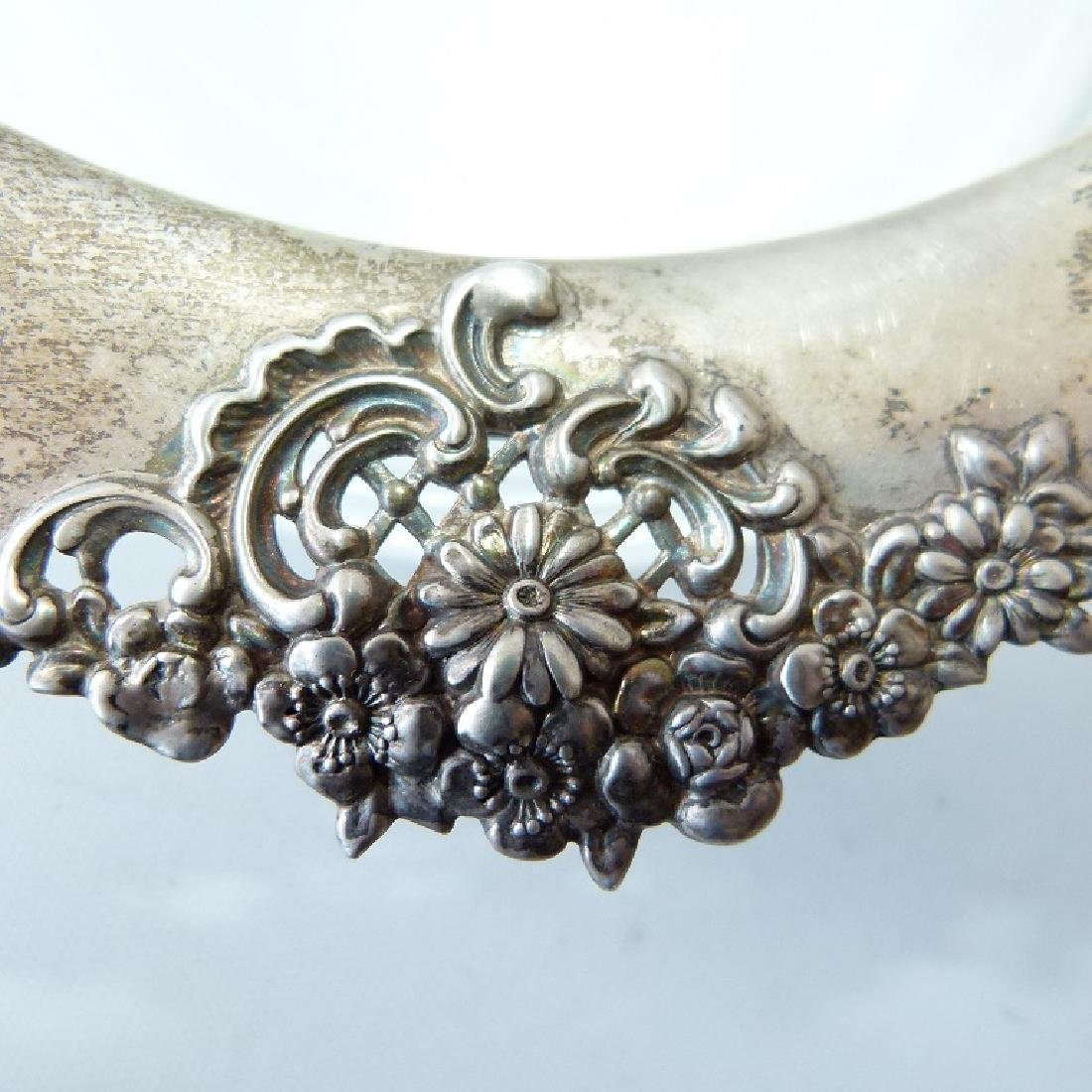 RARE TIFFANY & CO. MAKERS STERLING/CRYSTAL - 7