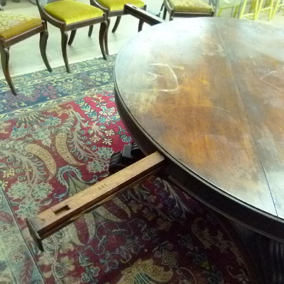 PENN. CLASSICAL CARVED WALNUT DINING ROOM TABLE - 10
