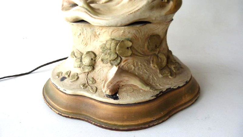ART NOUVEAU ROYAL DUX GILT GLAZED PORCELAIN VASE - 3