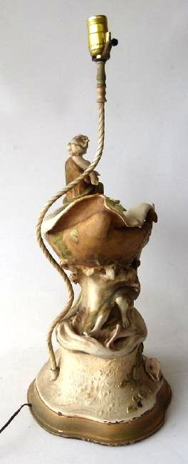 ART NOUVEAU ROYAL DUX GILT GLAZED PORCELAIN VASE - 7