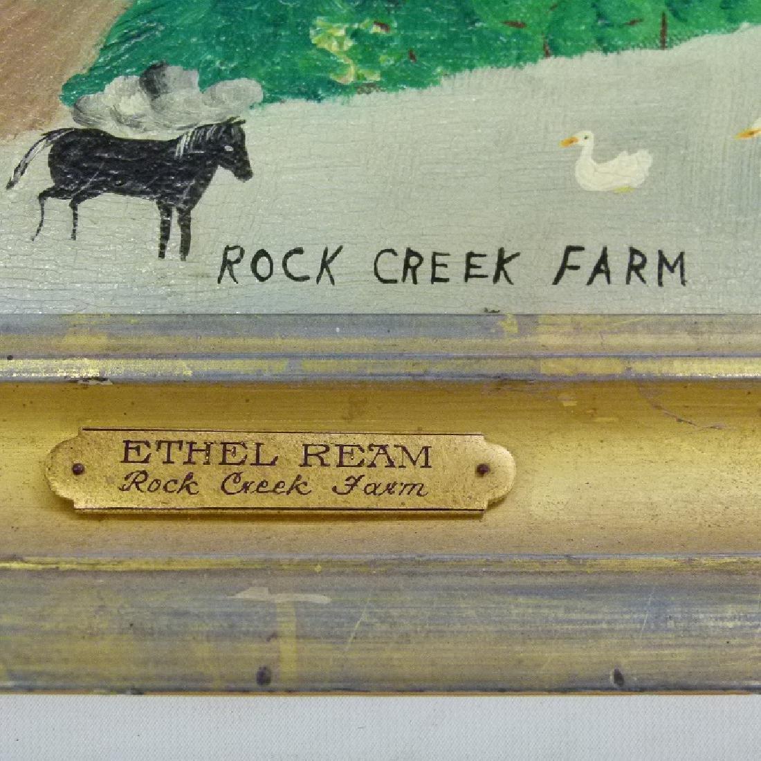 """O/B """"ROCK CREEK FARM"""" SIGNED ETHEL REAM - 4"""