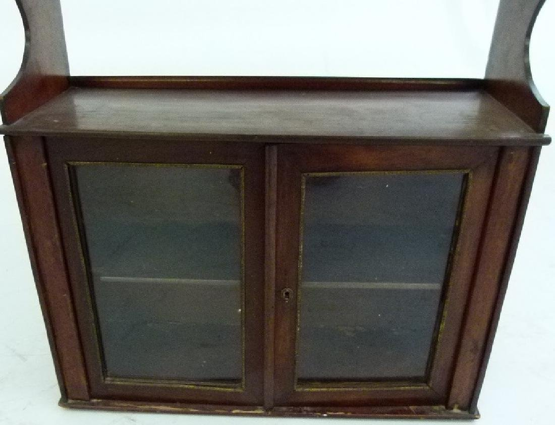 VICTORIAN WALNUT HANGING WHAT-NOT CABINET - 4