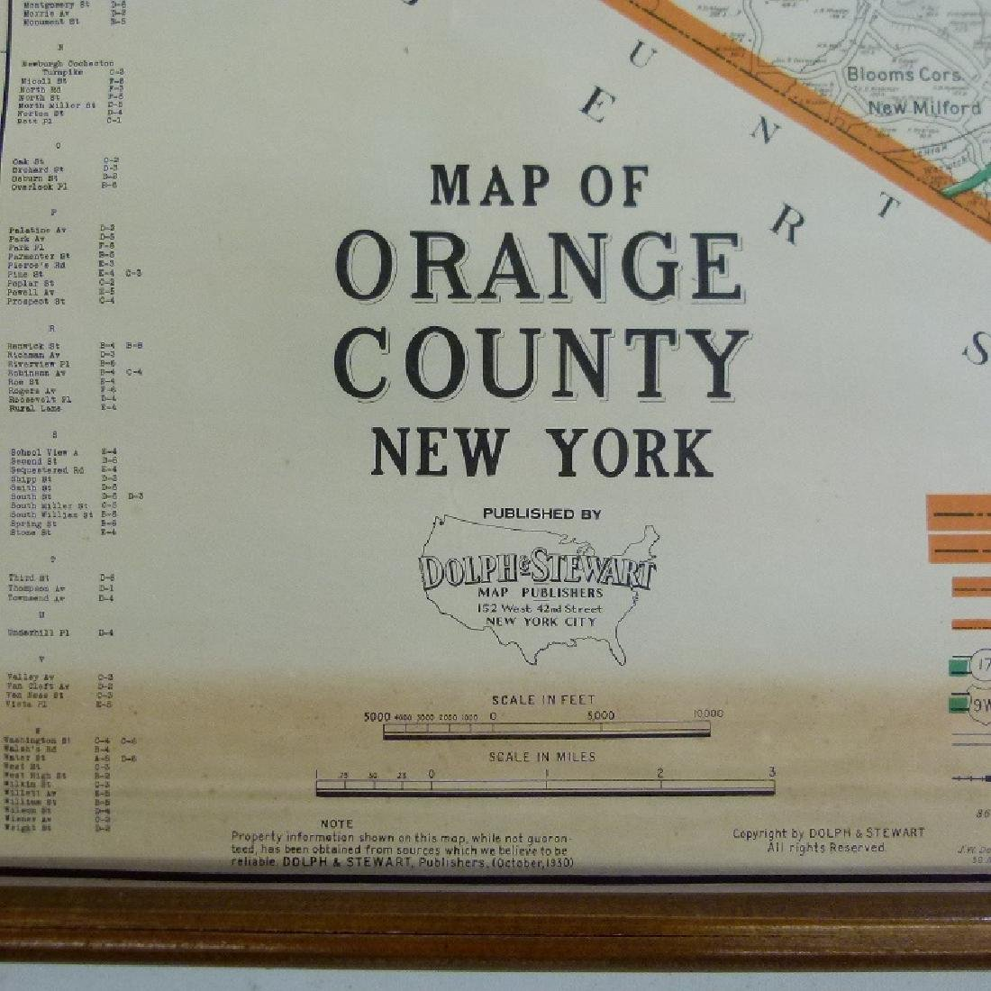 ORANGE COUNTY NEW YORK MAP 1930