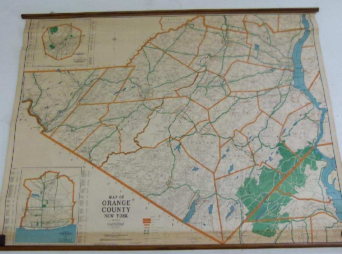 ORANGE COUNTY NEW YORK MAP 1930 - 2
