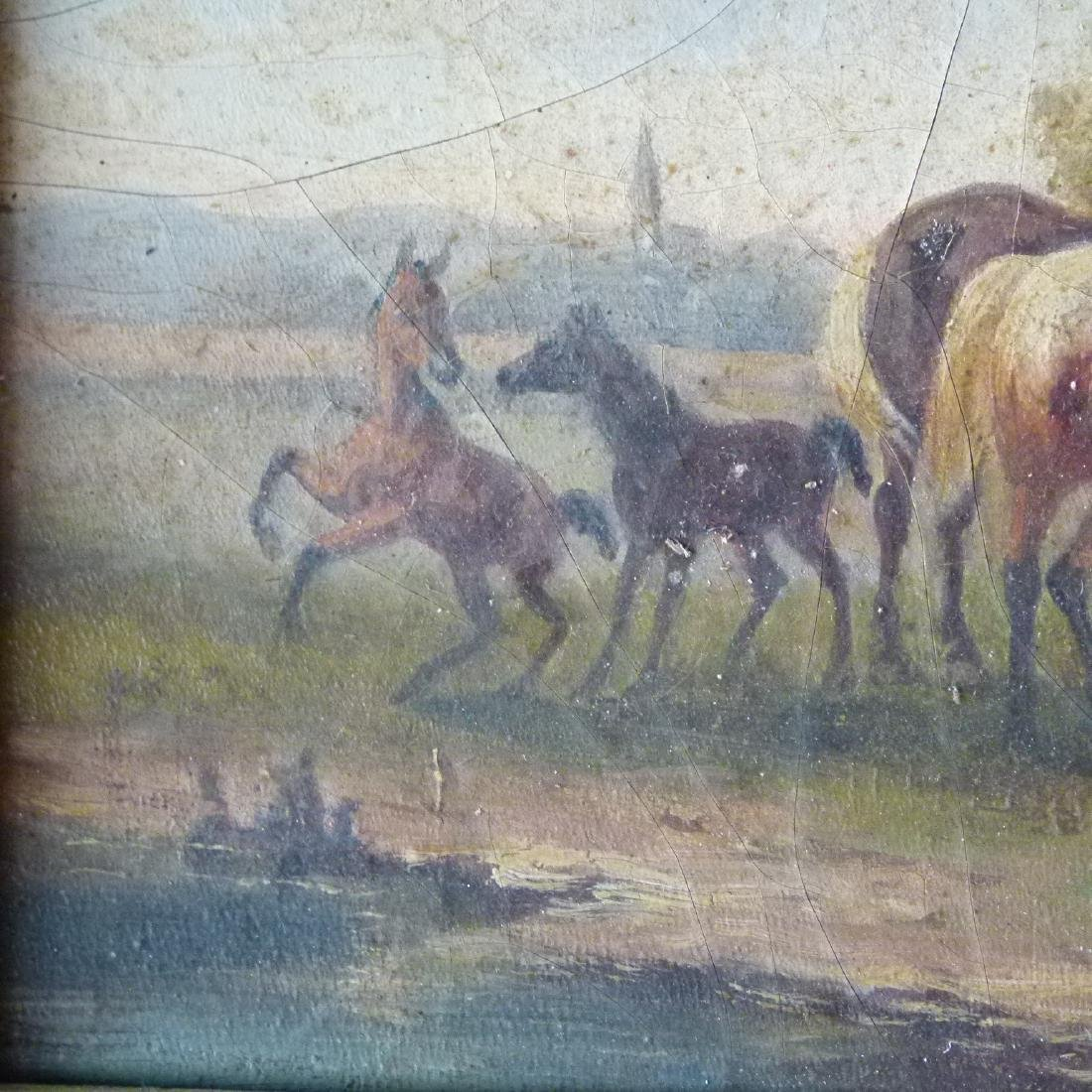 LOT (2) O/B HORSES W/ LANDSCAPE SIGNED OTTO PROGEL - 10