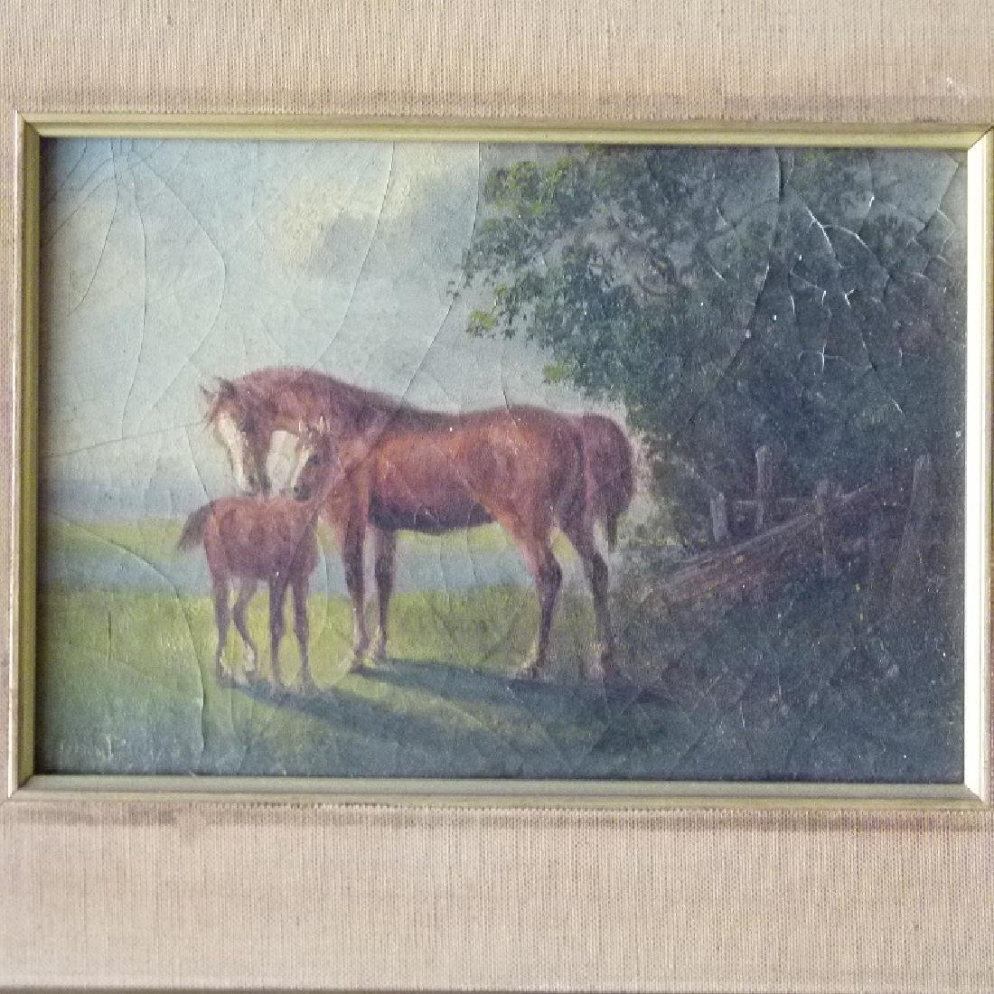 LOT (2) O/B HORSES W/ LANDSCAPE SIGNED OTTO PROGEL - 2