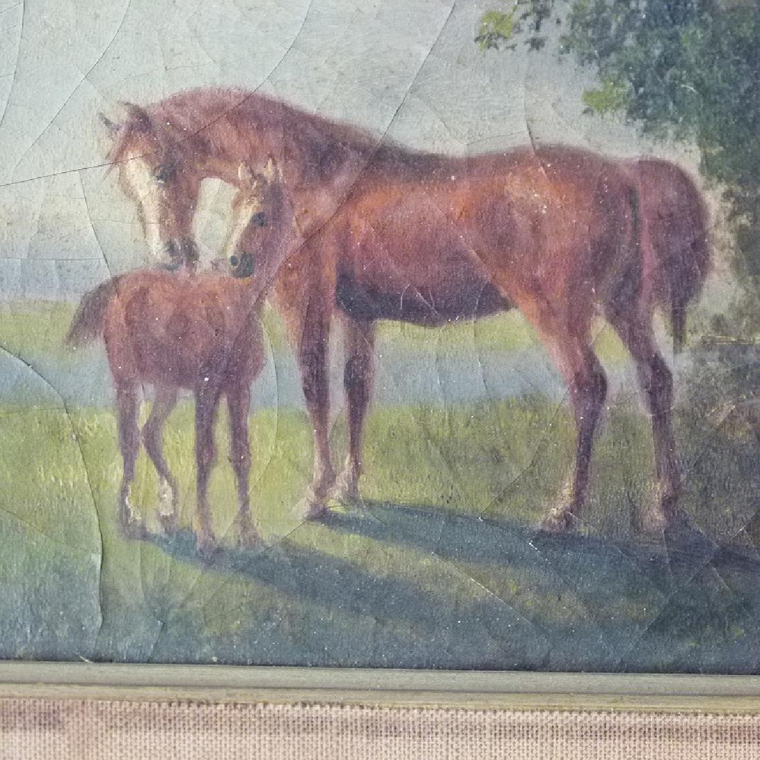 LOT (2) O/B HORSES W/ LANDSCAPE SIGNED OTTO PROGEL - 3