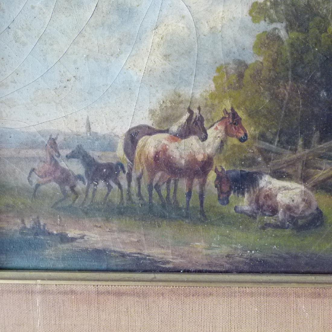 LOT (2) O/B HORSES W/ LANDSCAPE SIGNED OTTO PROGEL - 9