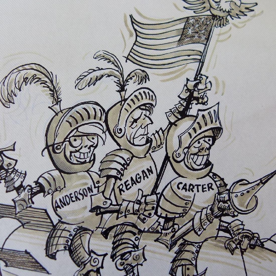 W/C GOUACHE POLITICAL CARTOONS SIGNED KELLER - 11