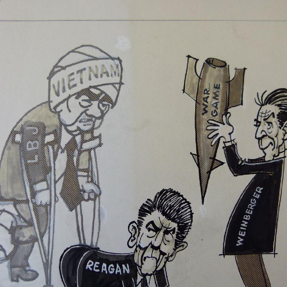 W/C GOUACHE POLITICAL CARTOONS SIGNED KELLER - 7