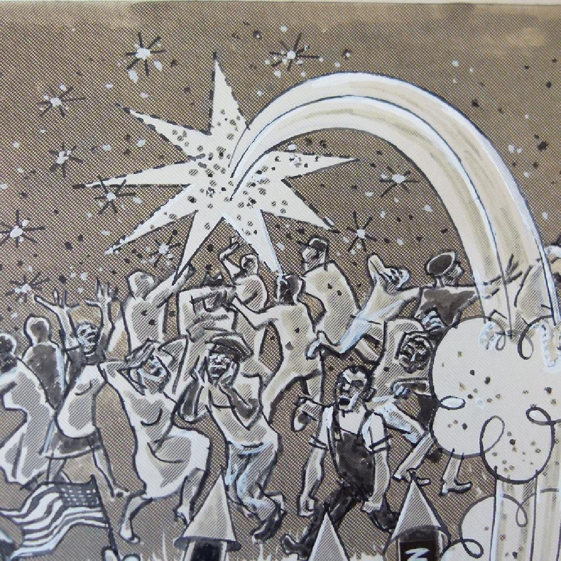 W/C GOUACHE POLITICAL CARTOONS SIGNED KELLER - 4