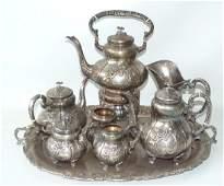 (8) FINE ROCOCO STERLING REPOSSE TEA SERVICE